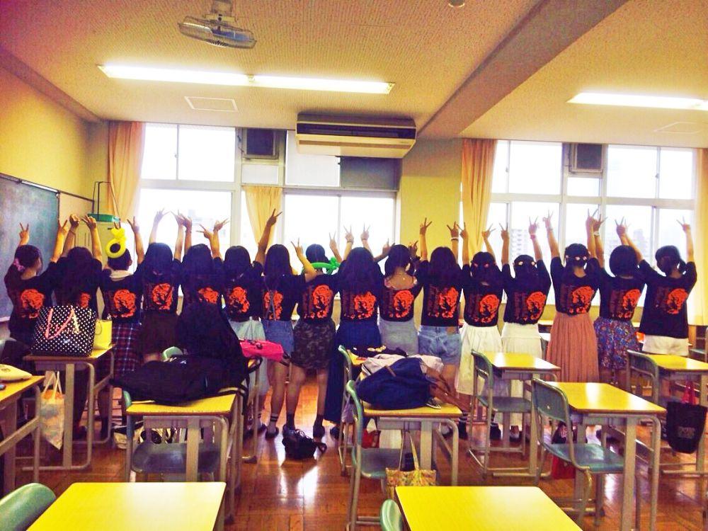 大阪府 夕陽丘高等学校 1年4組様(クラスTシャツ)