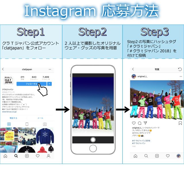 Instagram応募方法