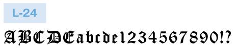 英文書体 L-24