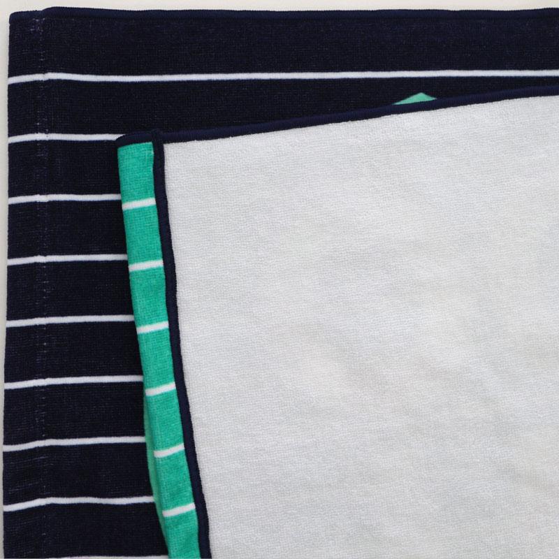 ソフトインクプリントタオルのフチ縫い