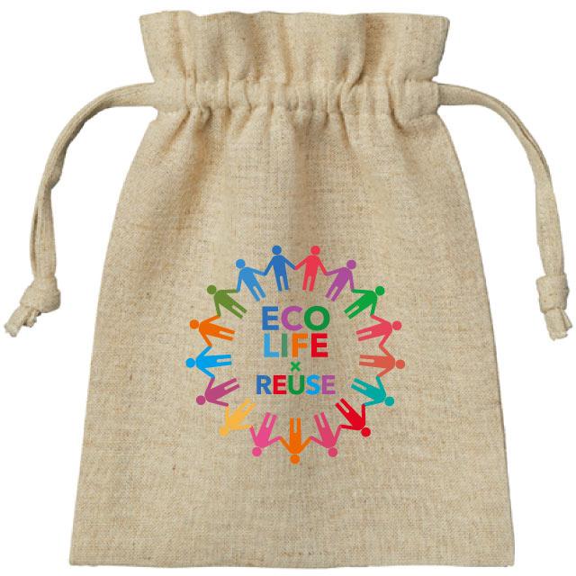 コットンリネン巾着(S)|オリジナルバッグ・ポーチの激安プリント作成ならクラTジャパン
