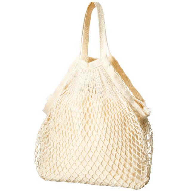 ネットバッグ 厚手コットン巾着付|オリジナルバッグ・ポーチの激安プリント作成ならクラTジャパン