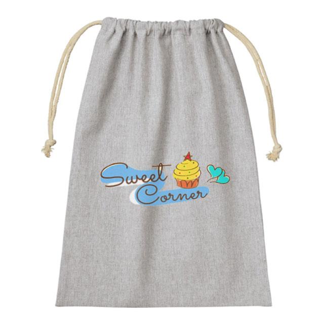 シャンブリック巾着(L)|オリジナルバッグ・ポーチの激安プリント作成ならクラTジャパン