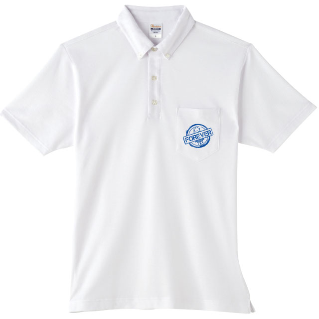 4.9オンス BDQボタンダウンポロシャツ(ポケ付)|オリジナルプリント・刺繍・デザイン【クラTジャパン】激安作成!