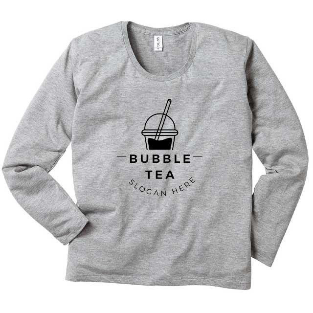 スリムUネックロングスリーブTシャツ[TRUSS SUL-116]