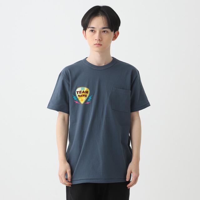 オープンエンドマックスウェイトバインダーネックポケットTシャツ|オリジナルプリント・デザイン【クラTジャパン】激安作成!