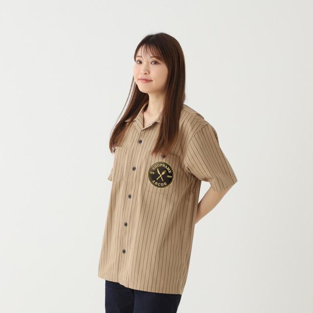 T/Cストライプワークシャツ[United Athle 1781]