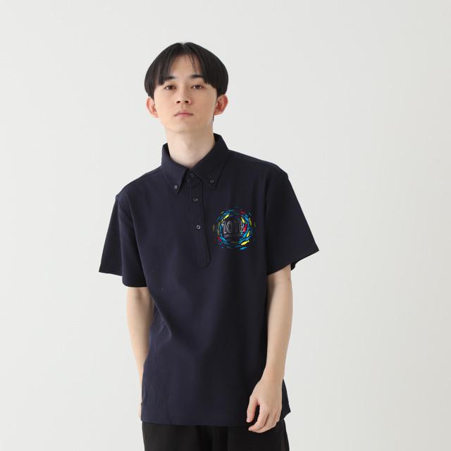 UVボタンダウンポロ(ポケ無)|オリジナルポロシャツの激安プリント作成ならクラTジャパン