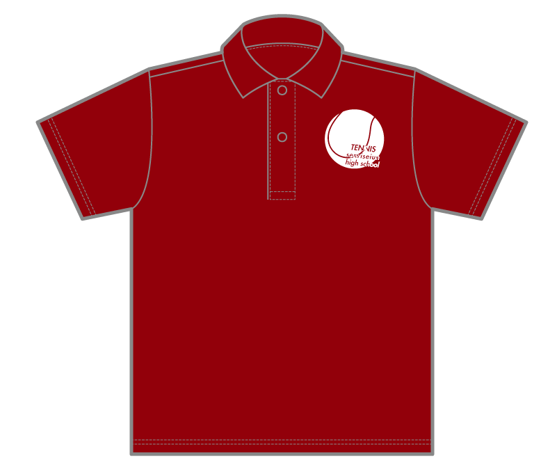 オリジナルデザイン例|大阪府 千里青雲高等学校男女硬式テニス部様